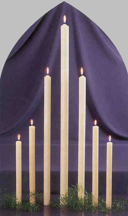 Beeswax Solid Altar Taper